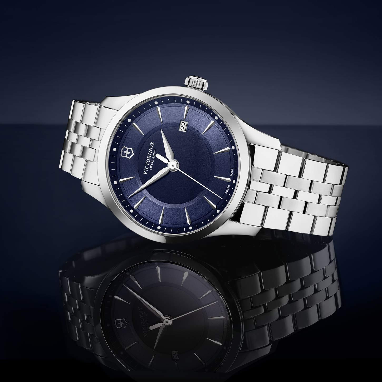 Victorinox Alliance kvartsur rostfritt stål Silber/Blau