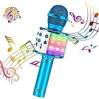 ShinePick Microfono Inalámbrico Karaoke, Micrófono Karaoke Bluetooth Portátil con Altavoz y LED para Niños Canta Partido…