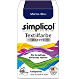 Simplicol expert fabric paint for washing machine or manual colouring: Tie Dye, Recolour, and Restore Your Fabrics and Clothes - Navy Blue