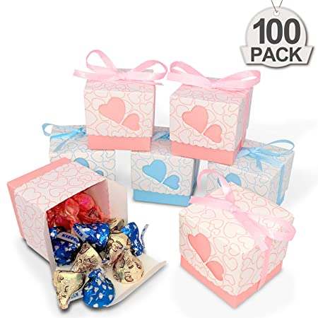 QGWZ 100x Cajas de Bautizo Caramelo Cumpleaños Dulces ...