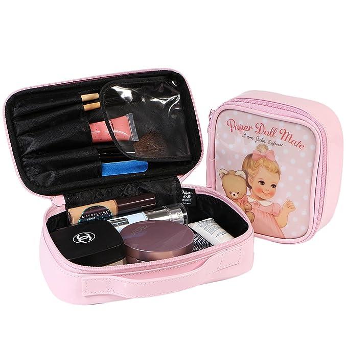 kilofly - Juego de bolsas de las niñas belleza caja cosméticos brocha de maquillaje lápiz caso viaje set2 B 8 inch: Amazon.es: Belleza