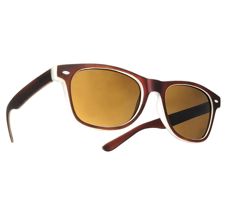 Damen Herren hölzerne Sonnenbrille Holz Retro Vintage Polarisiert Linse (Brown) amq0Gp