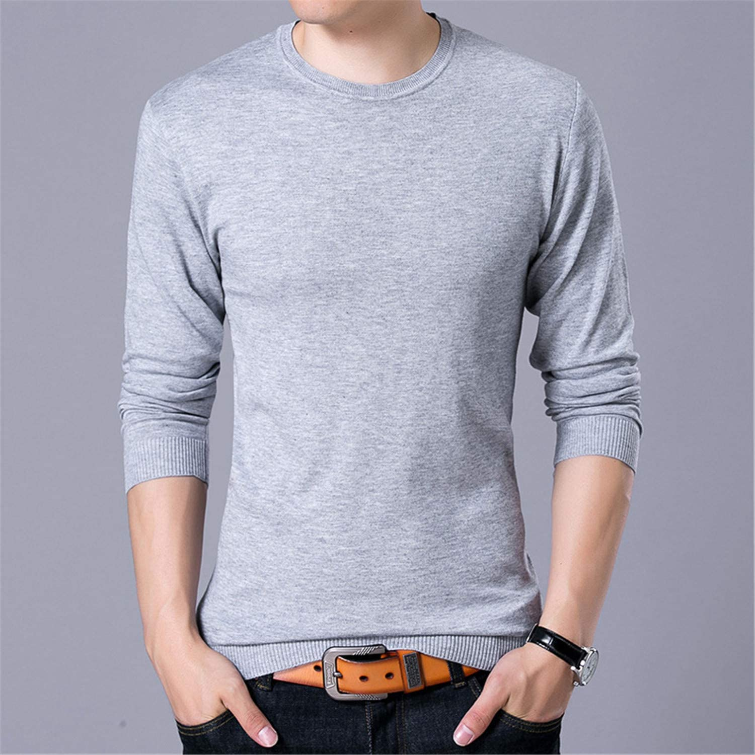 Sweater Men Winter Casual Wigeo Men Sweater Fashion O Neck Full Sleeved Sweater Slim Fit Pullovers Knitted Sweater Male Cardigan Blue