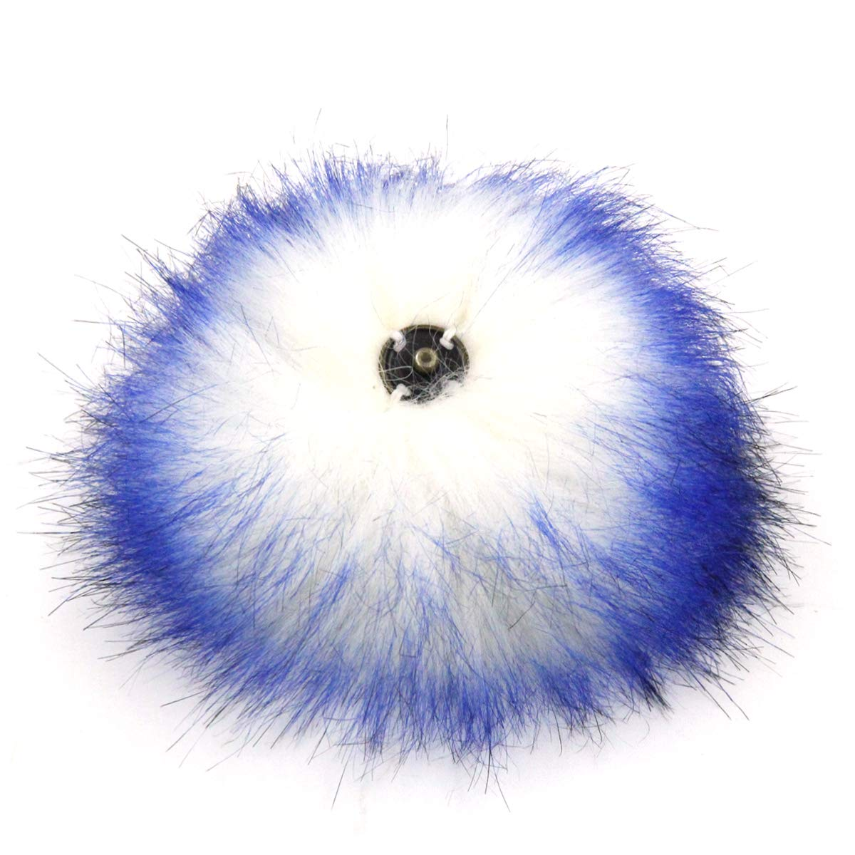 Furling Pompoms Faux Fox Fur Removable Pom Poms Ball with Press Button for Knitting Hats Mixed Colors 12pcs 4.7 Inches
