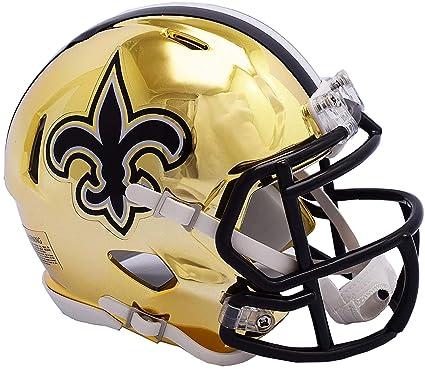 Image Unavailable. Image not available for. Color  Sports Memorabilia Riddell  New Orleans Saints Chrome Alternate Speed Mini Football Helmet - NFL ... 5e4858c06