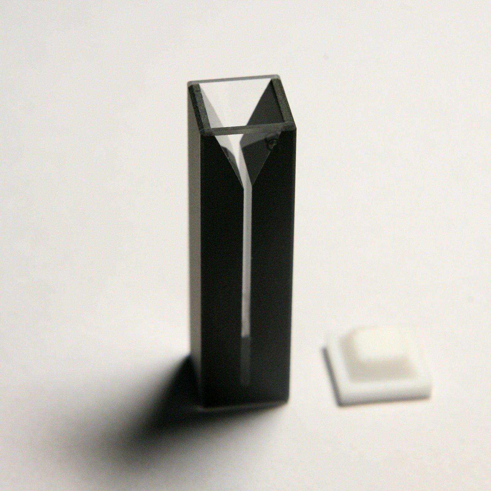 Micro Quartz Cuvette, Black, 1mm slit, 0.4ml, Spectrometer Cell