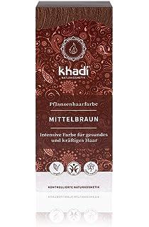 Khadi Pflanzenhaarfarbe Nussbraun 100g I Haarfarbe Braun Mit Henna