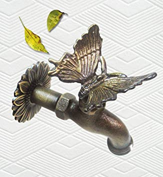 Amazon.com : Solid Brass Butterfly Faucet : Outdoor Faucets ...