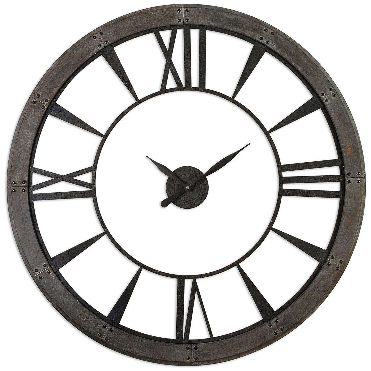 Uttermost 06084 Ronan Wall Clock, Large, Gray