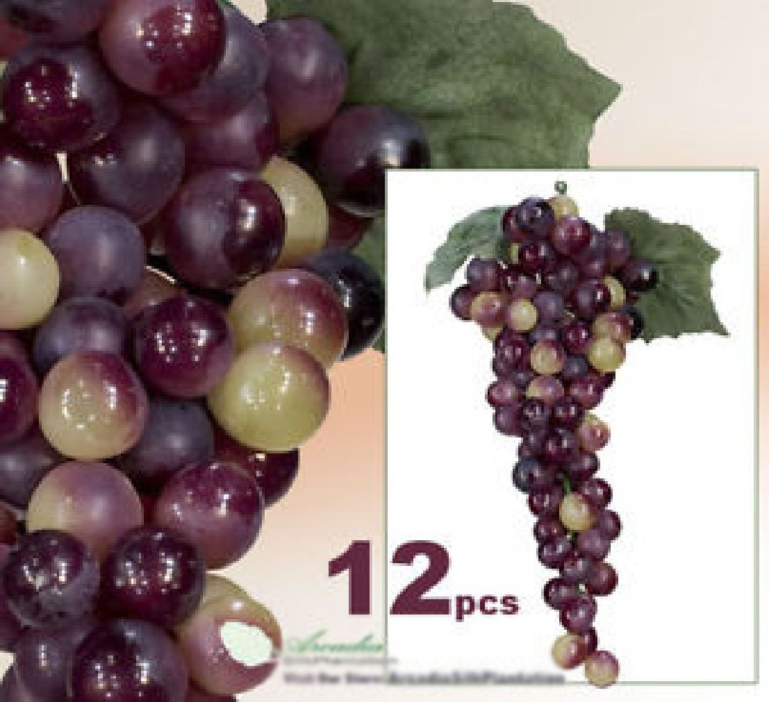 LOT OF 1080 Grape Artificial Fruit Home Garden Decor RG by Black Decor Home