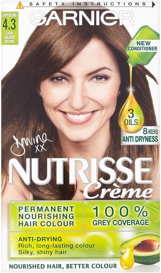Garnier Nutrisse 4.3 - Tinte para el cabello permanente, Dark ...