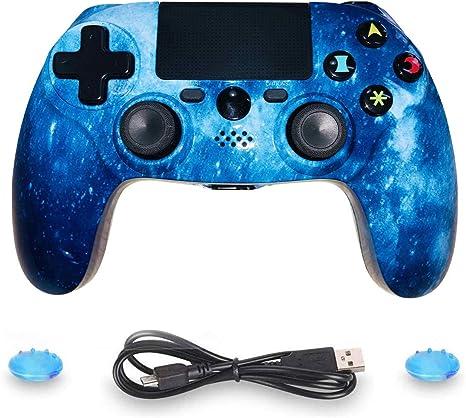Mando PS4 inalámbrico distancia con cable de carga para PS4/PS4 Pro, modo negro: Amazon.es: Videojuegos