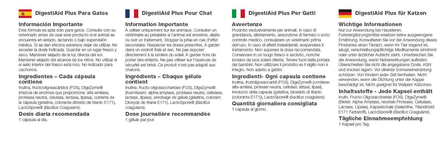 VitaPawsTM DigestiAid Plus | 120 Cápsulas para espolvorear ...