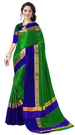 2bd5026499e Amiga Women s Cotton Silk Daily wear Saree with Blouse (Free Size ...