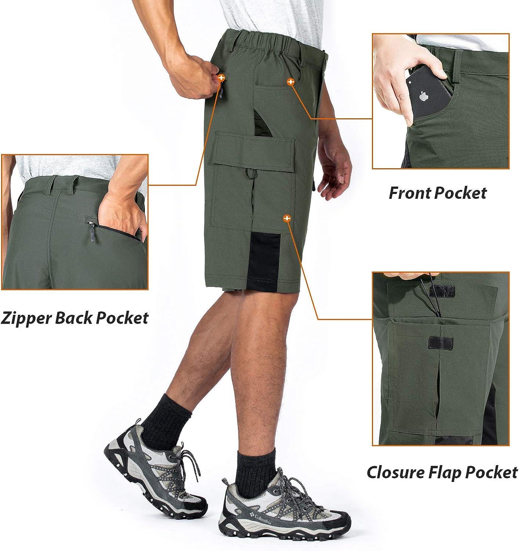Vzteek Mens MTB-3D-Padded-Shorts Mountain-Bike-Bicycle-Cycling-Shorts