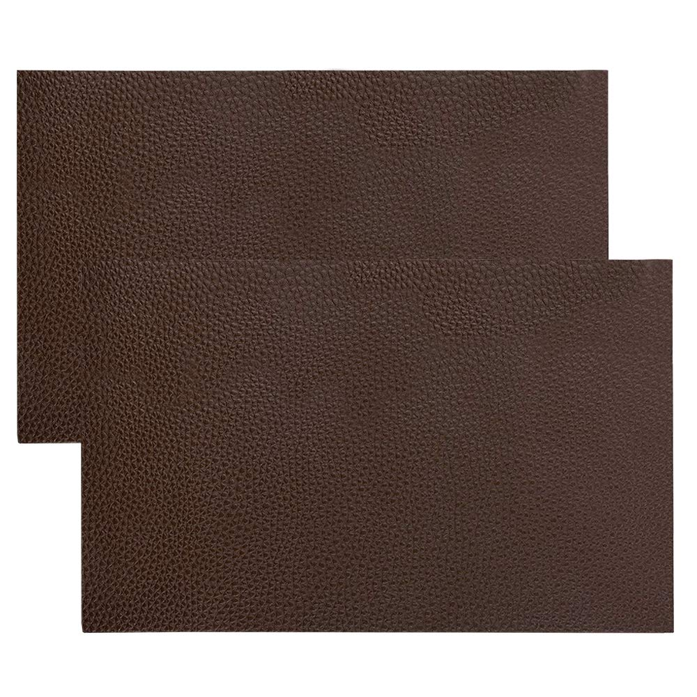 2 Pack Leather Repair Patch, DanziX Leather Repair Kit for Couch Furniture Sofas Car Seats, Jackets, Handbags, Cushion-8x11inch(Dark Brown)