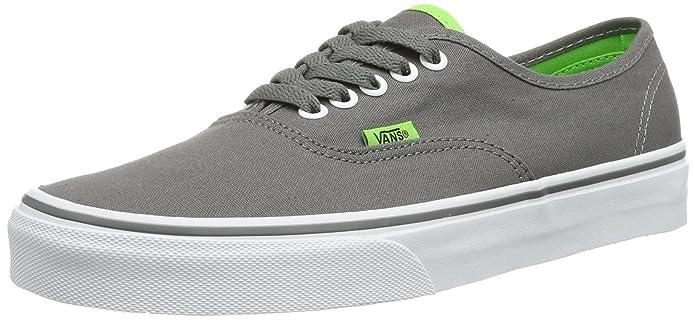 Vans Authentic Sneaker Unisex Erwachsene Grau Pop Charcoal Grüne Sohle
