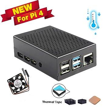 Amazon.com: Jun-Electron - Carcasa para Raspberry Pi 4 ...