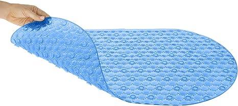 38 x 15 Vive XL Bathtub Mat Textured Rectangle Grip Non Slip Suction Cup Skid Pad for Tub Strong Machine Washable Elderly Eco-Friendly Kids - for Bath /& Shower Floors Bathroom