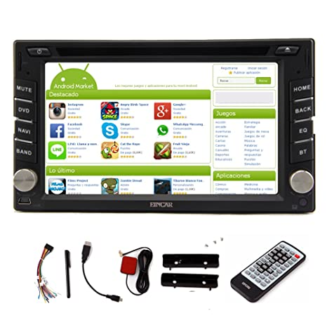 Subwoofer 6.2 pulgadas Eincar Doble FM / AM DIN Capzcitive Touchscreen v¨ªdeo est¨