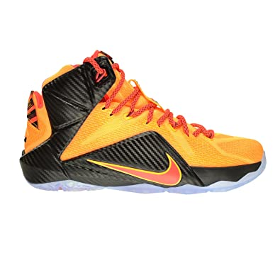 9394b2342f9 Nike Lebron XII Witness Men s Shoes Laser Orange Bright Crimson 684593-830  (8