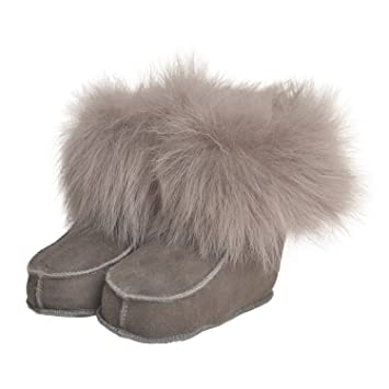 Amazon Com Shearling Baby Toddler Boots In Taupe 1 6 To 12
