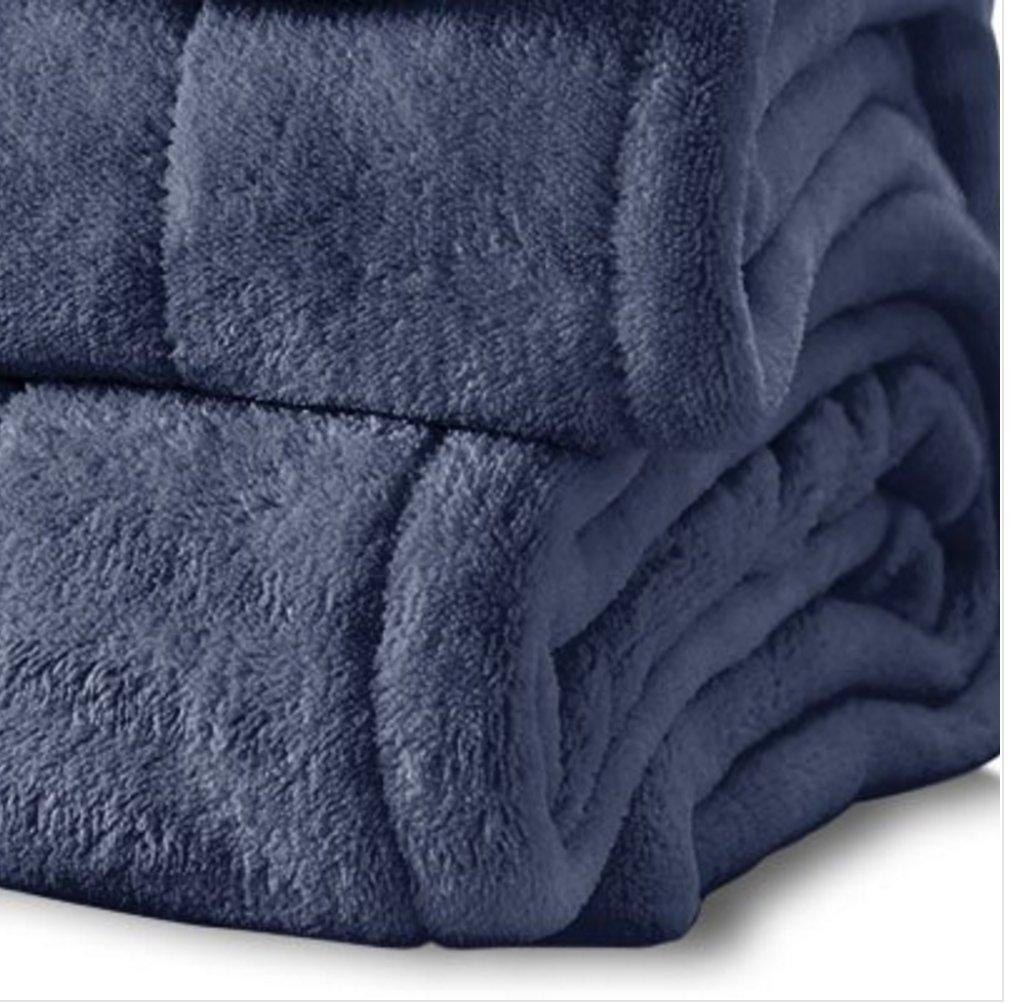 Sunbeam manta eléctrica King, Microplush manta, Ultra suave peluche de Imperial con 10 ajuste de calor y 10 hora apagado automático, azul, King: Amazon.es: ...