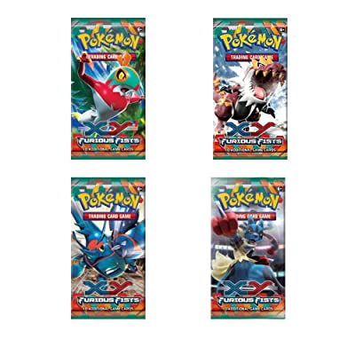 4x Booster Pokemon XY03 Furious Fist (Poings Furieux) Anglais