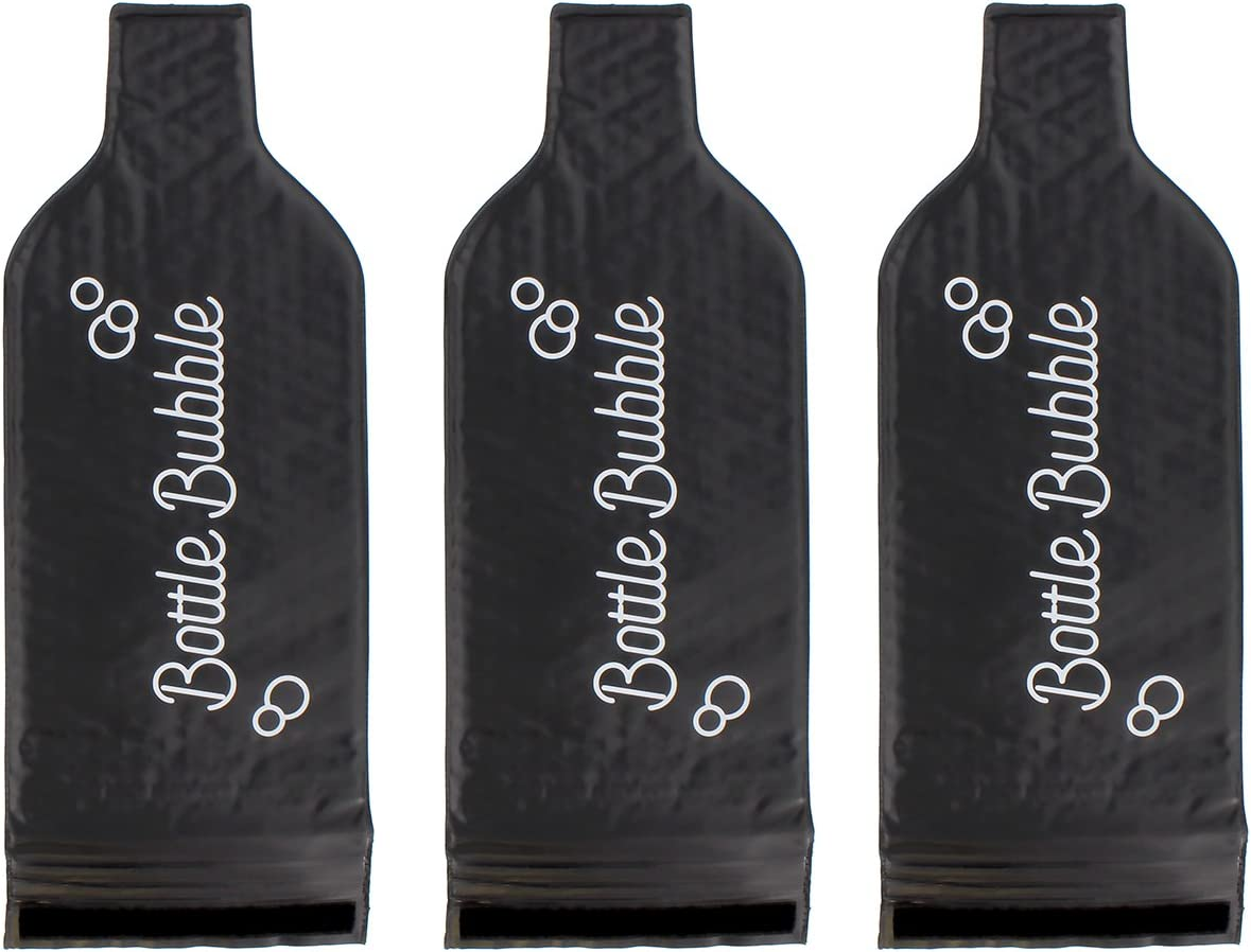Wine Skin 3-Pack – Wine Bags for Travel, Wine Travel Protector, Wine Sleeve for Travel, Reusable Wine Bottle Protector