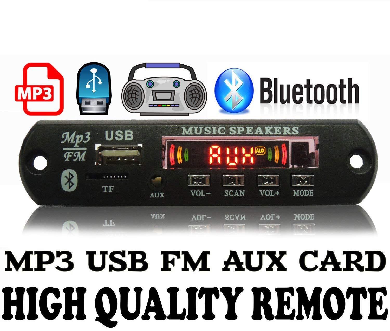 Gj Bluetooth Fm Usb Aux Card Mp3 Stereo Audio Player Vtf108 Circuit Sound Voice Recording Module Electronics