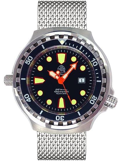 Tauchmeister 1937 T0079MIL - Reloj , correa de acero inoxidable: Amazon.es: Relojes