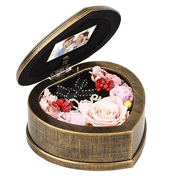 Amazon.com: EINID - Rosa de flores inmortales hecha a mano ...