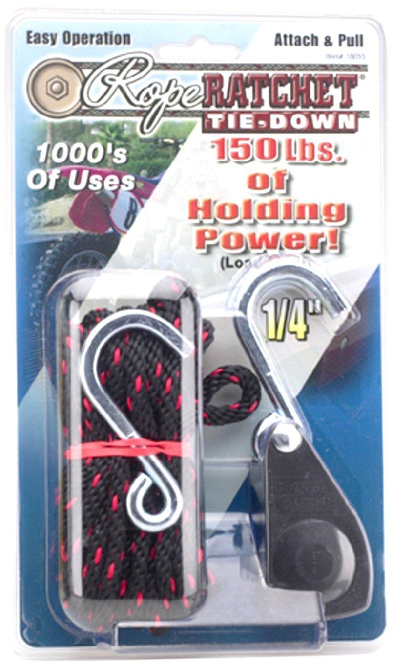 Carolina North 10015 1/4' Rope Ratchet with 15' Solid Braided Polypropylene Rope, 150 lbs Capacity Carolina North Mfg