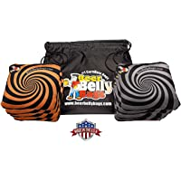 Beer Belly Bags Cornhole - Performance Series 8 Bags ACL Approved Resin Filled - Double Sided - Sticky Side   Slick Side