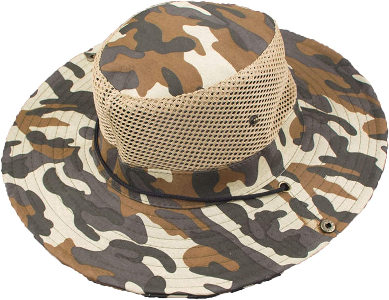 CHENTAI Military Camouflage Bucket Hat Fisherman Hats Beach Hat Outdoor Army Mens American Military Accessories