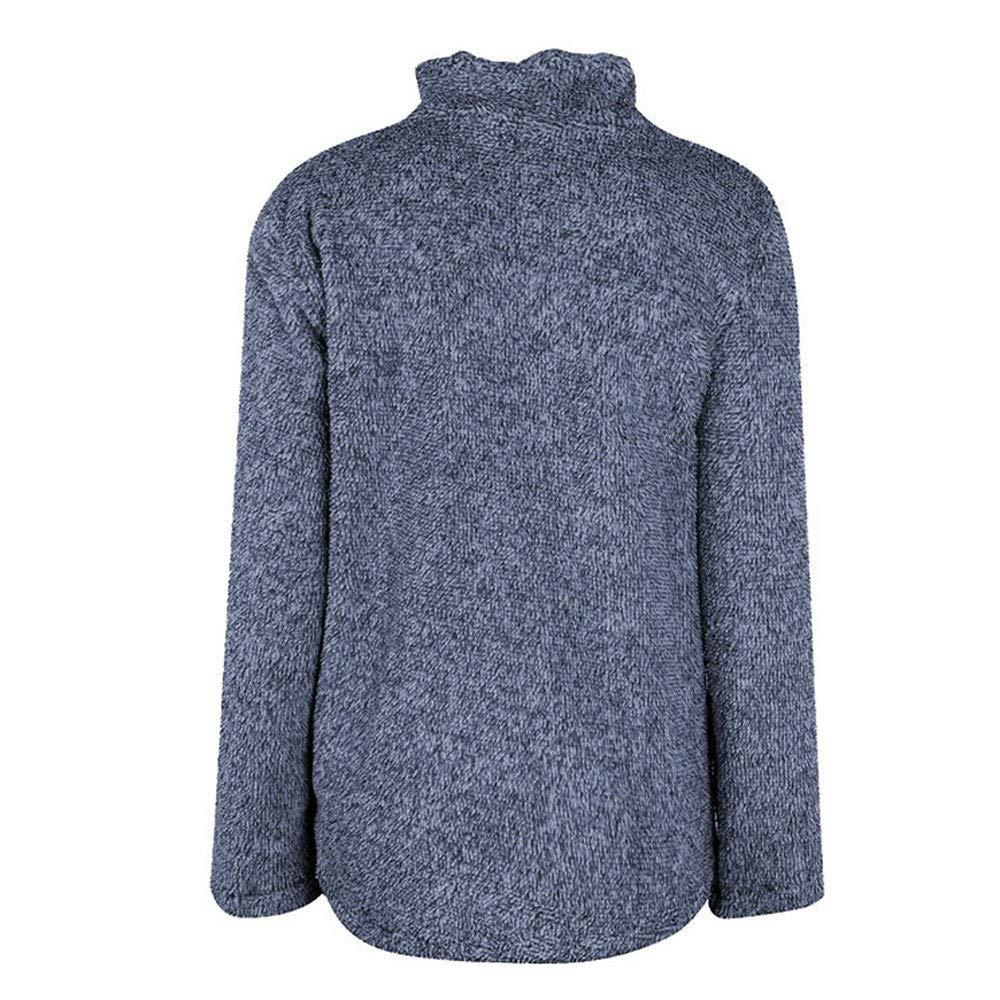 AOJIAN Women Jacket Long Sleeve Outwear Plush Pure Color Zipper Pocket Coat