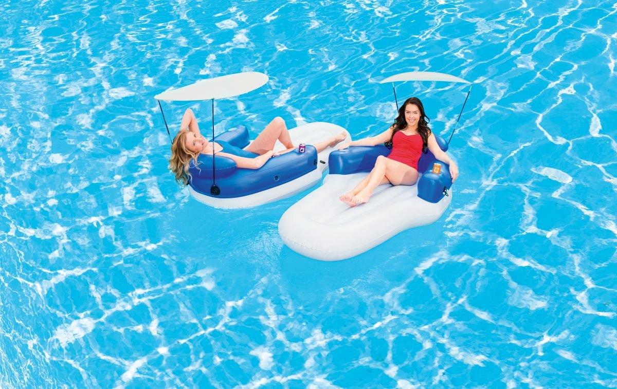 Pool Doppel Luftmatratze Lounge mit Sonnendach