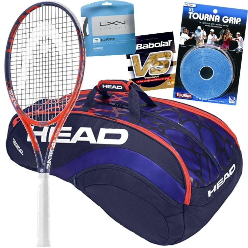 Andy Murray Pro Player Head GrapheneタッチRadical Pro Tennis Racquet and Gearバンドルパック  4 1/8-inch