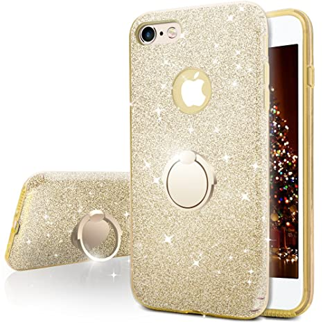 Miss Arts Funda iPhone 6S Plus, Funda iPhone 6 Plus, Carcasa Brillante Brillo con Soporte, Cubierta Exterior de TPU Suave + armazón Interior de PC ...