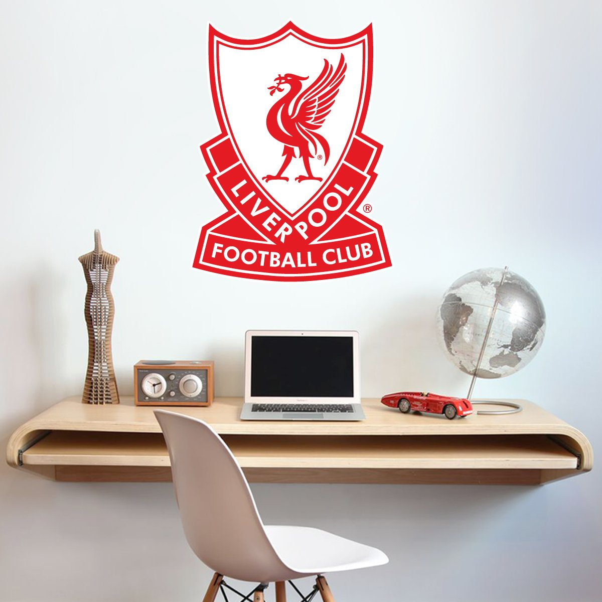 Amazon com official liverpool football club 80s retro crest wall decal lfc wall sticker set decal vinyl poster print mural 60cm height baby