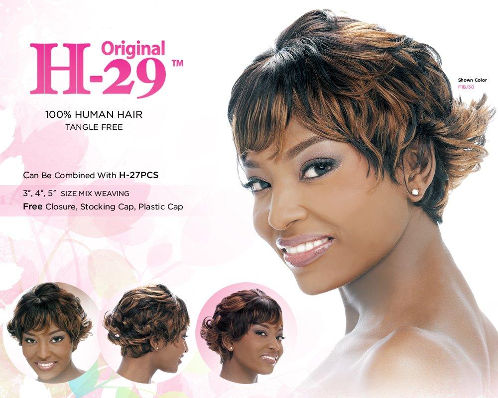 Amazon Harlem 125 Human Hair 29 Pcs Weaving Hair 1b Off
