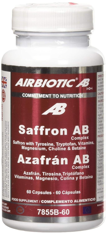 AIRBIOTIC AB - Suplemento Azafrán AB para Ansiedad y Estado de Ánimo, 60 cápsulas