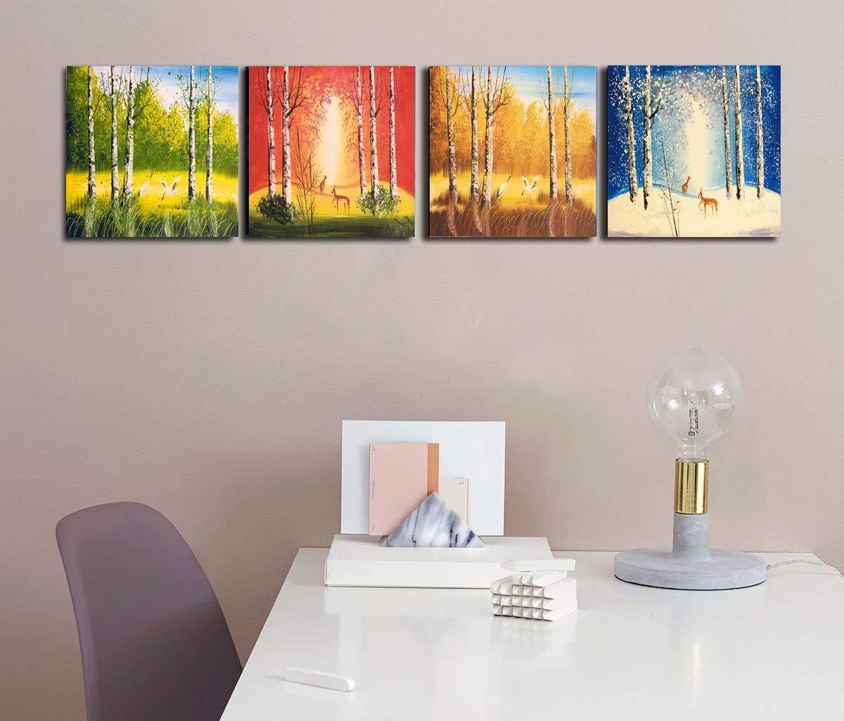 Cairnsi 4 Stück Moderne gerahmte Landschaft Artwork Giclee Leinwand ...