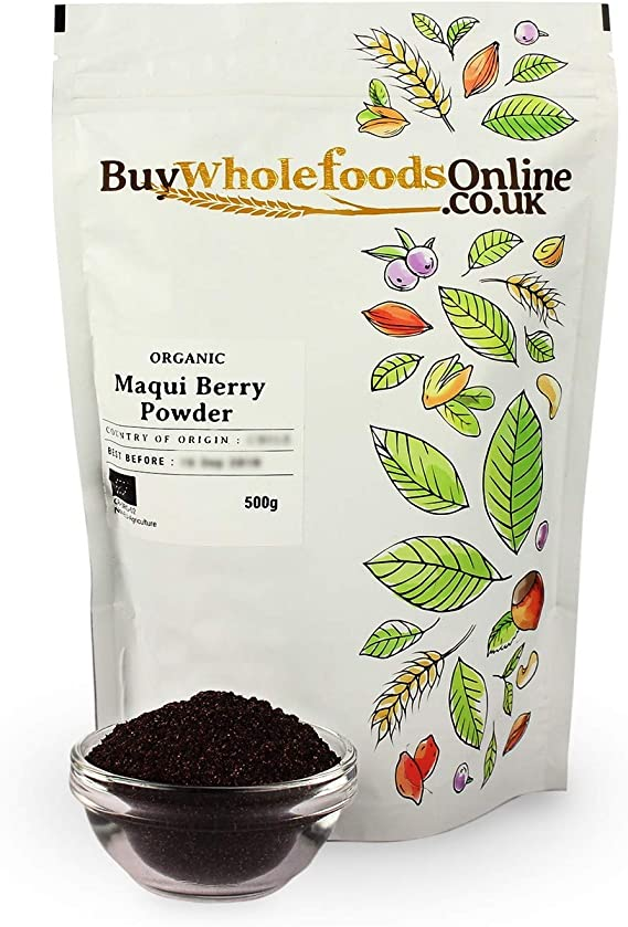Organic Maqui Berry Powder 500g Buy Whole Foods Online Ltd Amazon Co Uk Grocery