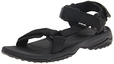 Teva Terra FI Lite Leather W's Damen Sport- & Outdoor Sandalen, Schwarz (Black 513), EU 42