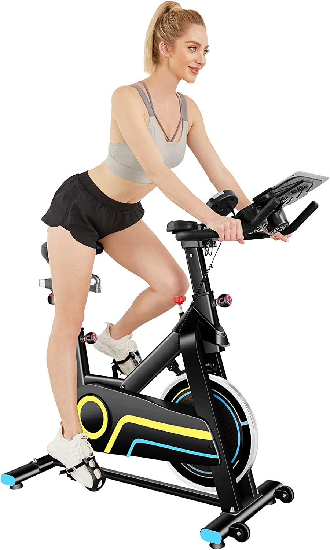 49 lbs Flywheel Indoor Cycling Exercise Bike+Heart Rate ANCHEER Stationary Bike