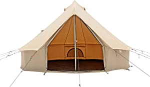 WHITEDUCK Regatta Canvas Bell Tent - w/Stove Jack, Waterproof, 4 Season Luxury Outdoor Camping and Glamping Yurt Tent Made from Premium & Breathable 100% Cotton Canvas