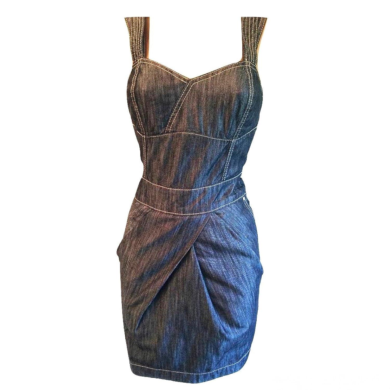 Karen Millen Tencel Dark Blue Denim Dress