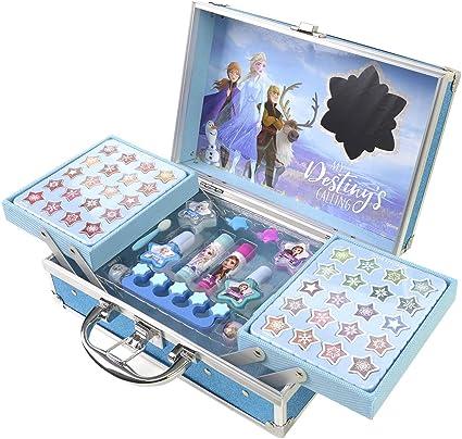 Frozen 2- Frozen II Princess Makeup Traincase, Color azul, Talla Única (Markwins 1599018E): Amazon.es: Juguetes y juegos