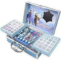 Disney- Frozen II Princess Makeup Traincase, Color Azul